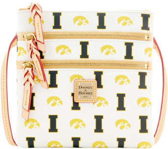 Dooney & Bourke NCAA University of Iowa Zip Crossbody - A283497
