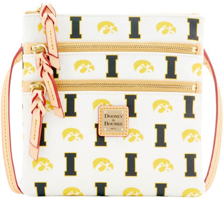 Dooney & Bourke NCAA University of Iowa Zip Crossbody
