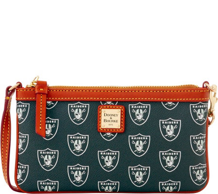 Dooney & Bourke NFL Raiders Large Slim Wristlet