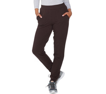Denim & Co. Active Petite Jogger Pants with Zipper Detail - A286797