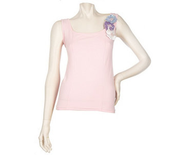 """As Is"" Kathleen Kirkwood ""Bejeweled"" Flowers Tank - A287397"
