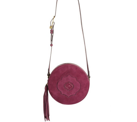 """As Is"" orYANY Suede Canteen Bag - Kailee"