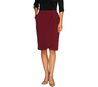 """As Is"" George Simonton Stretch Tuck Detail Skirt w/ Side Pockets - A293297"
