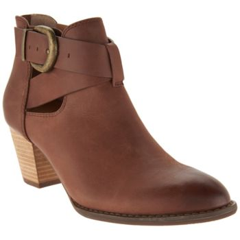 Vionic Orthotic Leather Cut-out Ankle Boots - Rory