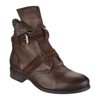 Miz Mooz Leather Ankle Boots w/ Side Zip - Storm