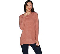 Denim & Co. Crossover V-Neckline Long Sleeve Tunic Sweater - A300997