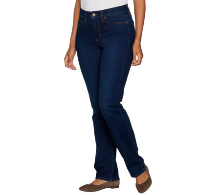 Martha Stewart Petite 5-Pocket Straight Leg Jeans