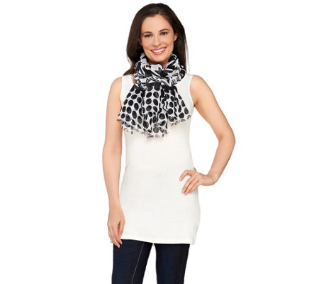 """As Is"" Joan Rivers Graphic Mix Jacquard Scarf"