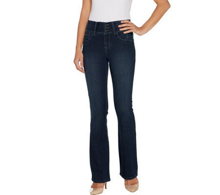 """As Is"" Laurie Felt Tall Curve Silky Denim Boot Cut Pants"