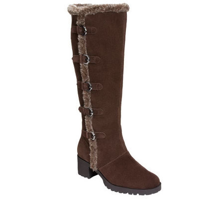 aerosoles nest egg suede leather knee high boots page 1