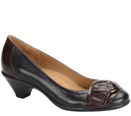 Softspots Leather Pumps with Buckle - Sarah
