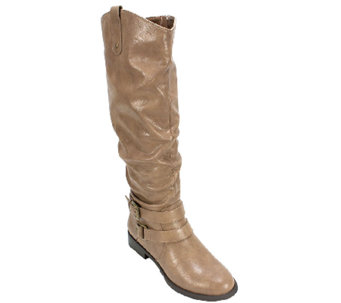 White Mountain Slouch Style Full-Zip Boots - Lioness - A335497