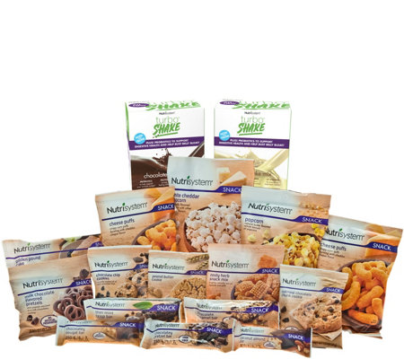 Nutrisystem 15-piece Sweet & Salty Snack Pack with TurboShakes