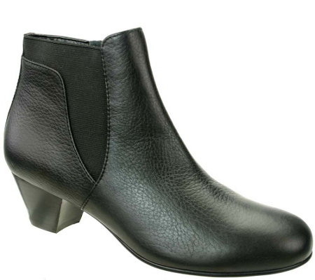 David Tate Gored Leather Booties - Culver