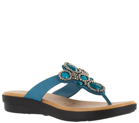 Easy Street Thong Sandals - Begem