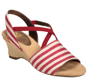 A2 by Aerosoles Heel Rest Wedge Sandals - Boyzenberry - A339297