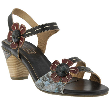 Spring Step L'Artiste Leather Sandals - Guiditta