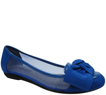 J. Renee Suede and Mesh Flats - Bacton - A340797