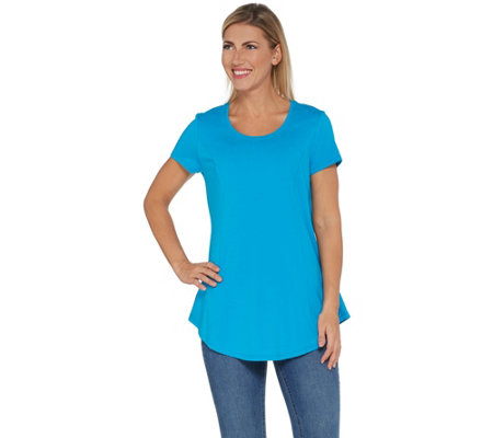 """As Is"" Isaac Mizrahi Live! Short Sleeve Peplum Top"