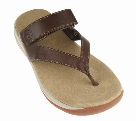 Rockport Leather Adjustable Comfort Thong Sandals