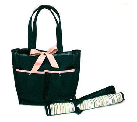 basq diaper bag with changing pad. Black Bedroom Furniture Sets. Home Design Ideas