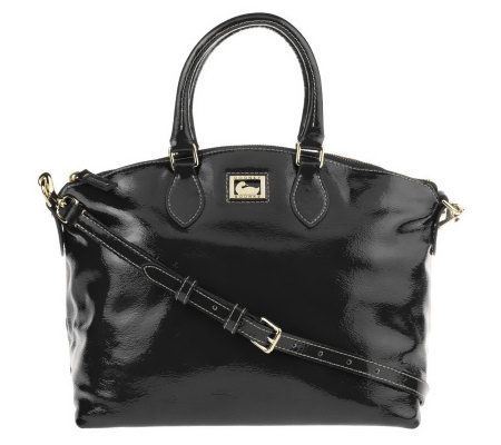 Dooney & Bourke Patent Leather Satchel with Detachable Strap