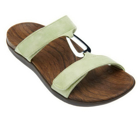 Vionic w/ Orthaheel Layla Orthotic Adj. Sandals w/ Metal Detail