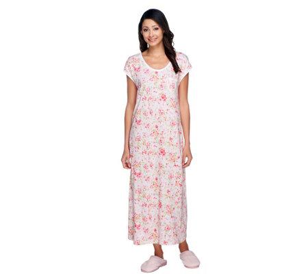 Carole Hochman Penelope Floral Cotton Jersey 48 Quot Gown