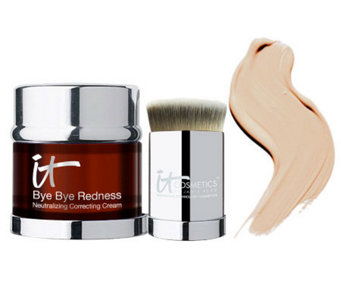 IT Cosmetics Bye Bye Redness Anti-Aging Concealing Cream w/ Brush - A231698