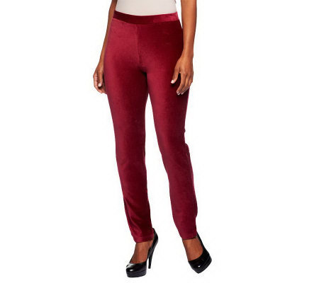 Susan Graver Knit Corduroy Pull-on Leggings