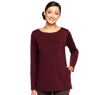 Linea by Louis Dell'Olio Scoop Neck Tunic with Pocket Detail - A237398