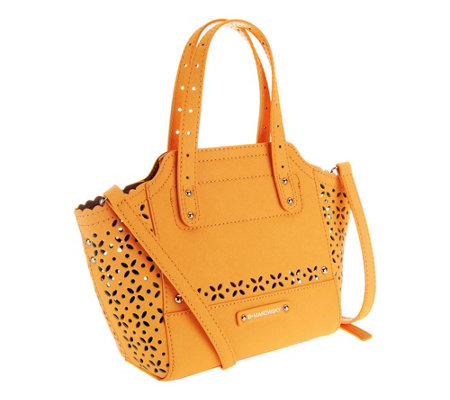 B. Makowsky Perforated Saffiano Mini Tessa Leather Tote