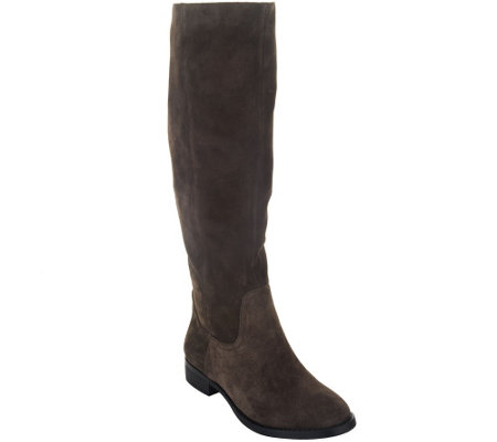 Sole Society Suede Tall Shaft Pull-on Boots - Kellini