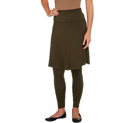 Legacy Mid-Length Rayon Skirted Leggings
