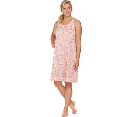 Carole Hochman Lakeside Bloom Cotton Jersey Chemise