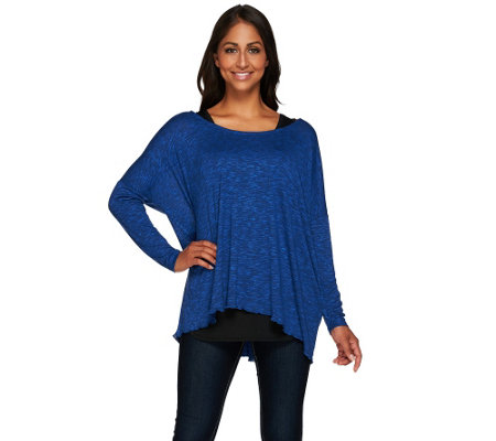 Attitudes by Renee Sweater Knit Dolman Top with Knit Tank