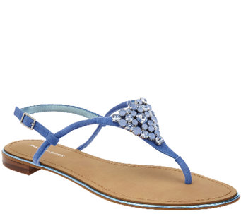 """As Is"" Marc Fisher Jeweled Thong Sandals w/ Backstrap Rady II - A270398"