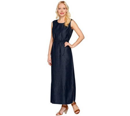 Denim & Co. Sleeveless Denim Tank Dress