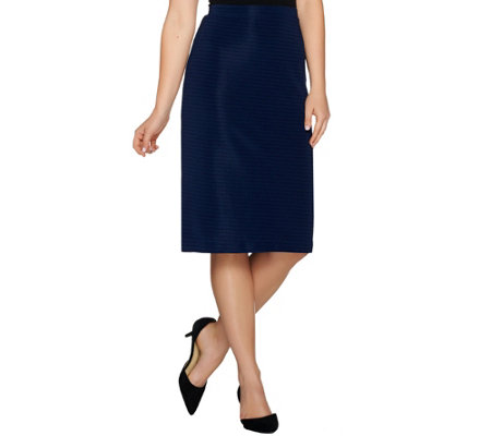 Dennis Basso Novelty Knit Pencil Skirt