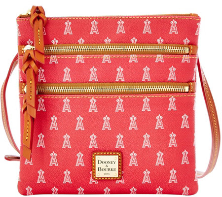 Dooney & Bourke MLB Angels Triple Zip Crossbody