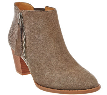 Vionic Orthotic Suede Ankle Boots - Anne - A280198