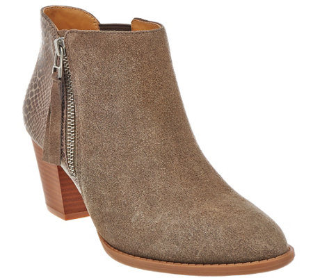 Vionic Orthotic Suede Ankle Boots - Anne