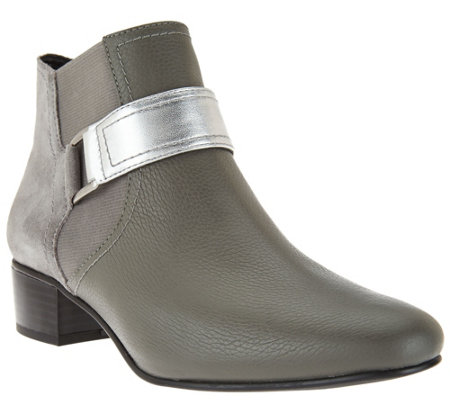 LOGO by Lori Goldstein Ankle Boots with Buckle Detail