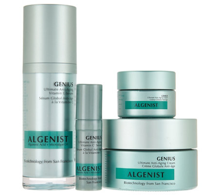 Algenist Genius Anti- Aging Serum & Moisturizer Home & Away Set