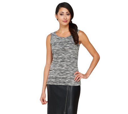 """As Is"" Joan Rivers Heathered Knit Tank"