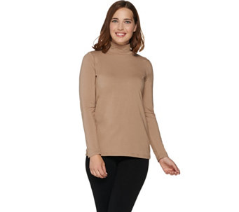 Bob Mackie's Long Sleeve Mock Neck Knit Top - A282198
