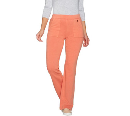 Peace Love World Bootcut Fleece Knit Pants with Pockets
