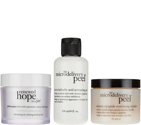 philosophy super-size vitamin-c peel & renewed hope duo