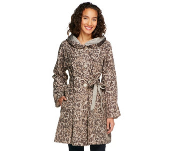 """As Is"" Status by Star Jones Reversible Coat with Pleated Hood - A287198"
