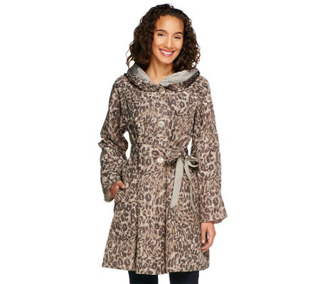 """As Is"" Status by Star Jones Reversible Coat with Pleated Hood"
